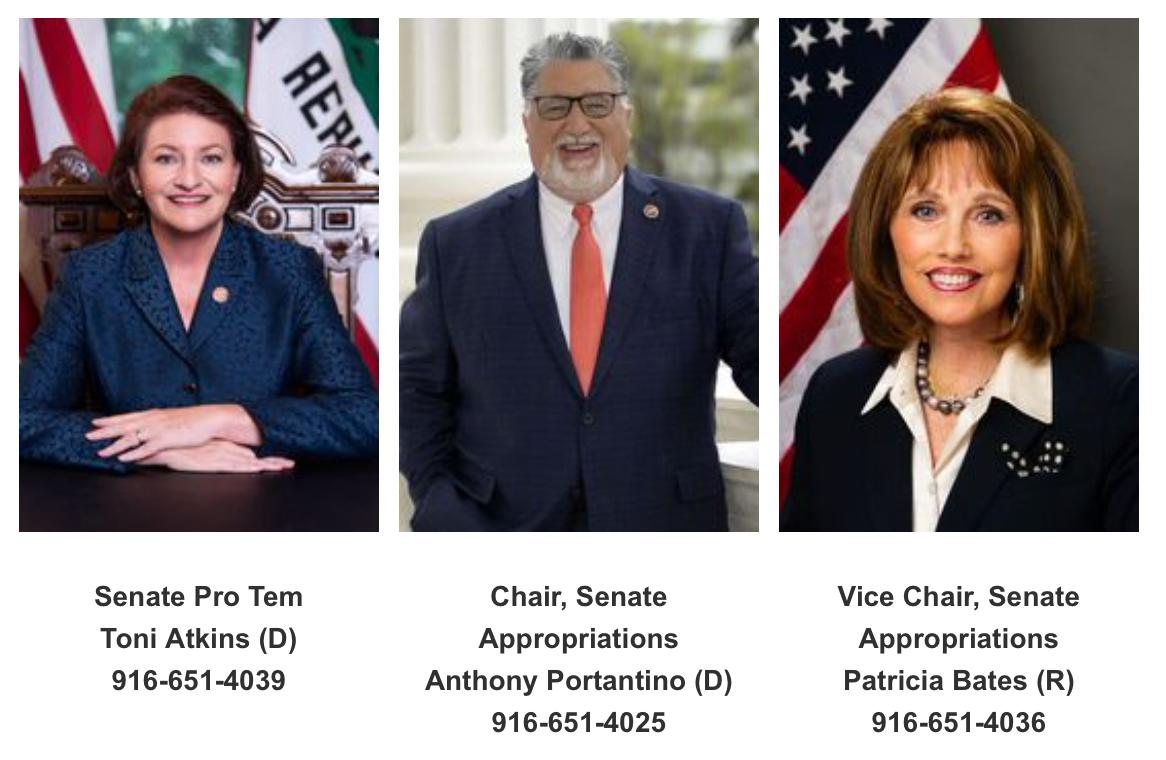 senators to contact